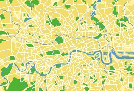 carte europe: Vecteur de mod�le de carte de la ville de Londres, au Royaume-Uni.