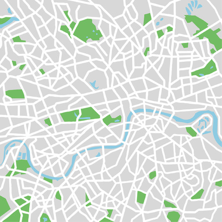 Vector pattern city map of London,United Kingdom.