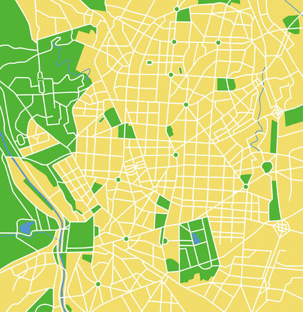 Vector pattern city map of Madrid, Spain. Vector