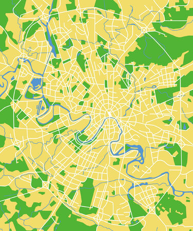 Vector pattern city map of Moscow, Russia. Vector