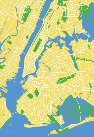 Precisely vector city map of Newyork United Stated. Illustration