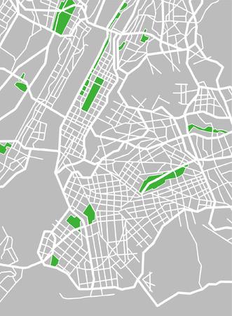 central: Vector patroon city kaart van New York, Verenigde Staten.