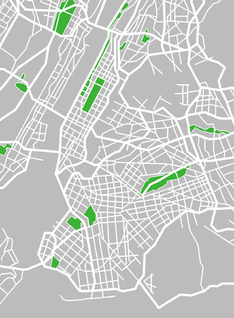central park: Vector pattern city map of New York, United States. Illustration