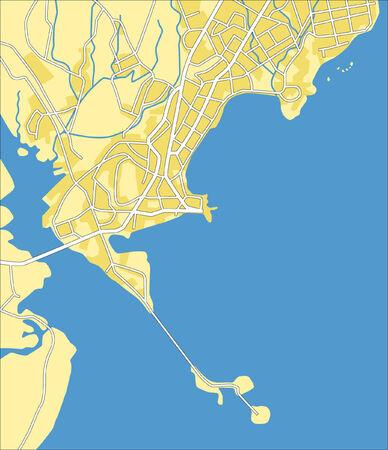 panama: Layered vector pattern city map of Panama.