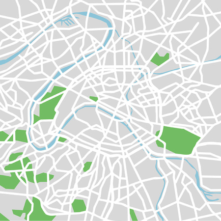 endless: Vector pattern city map of Paris, France. Illustration