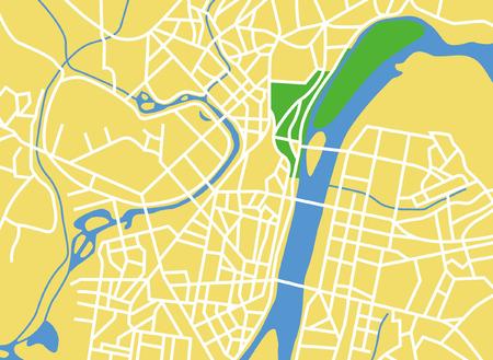 pyongyang: Vector city map of Peongyang North Korea.