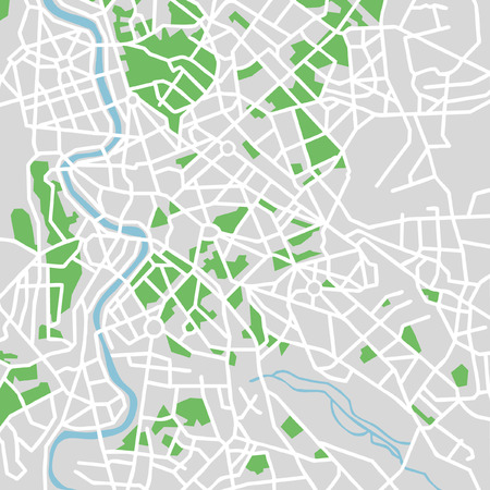 city view: Vector pattern city map of Rome, Italy. Illustration