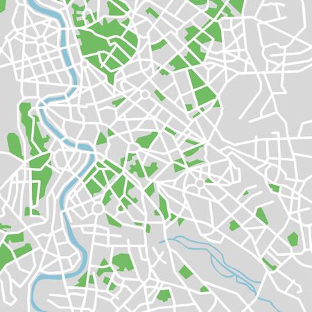Wektor deseń mapę miasta of Rome, Włochy.