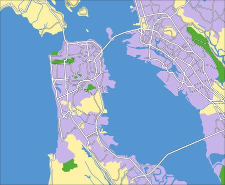 San Francisco Us Stock Vector Illustration And Royalty Free - San franciso us map