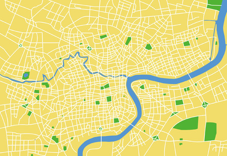 Precisely vector city map of Shanghai China.