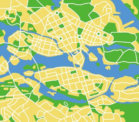 Vector pattern city map of Stockholm, Sweden. Vetores