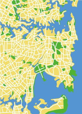 Vector pattern city map of Sydney, Australia. Иллюстрация