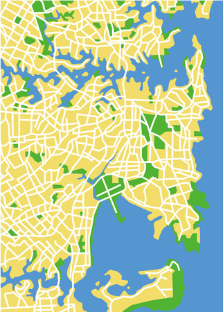 Vector pattern city map of Sydney, Australia. Vector