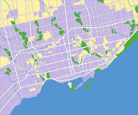 ontario: livelli vettoriali Mappa della citt� di Toronto in Canada.