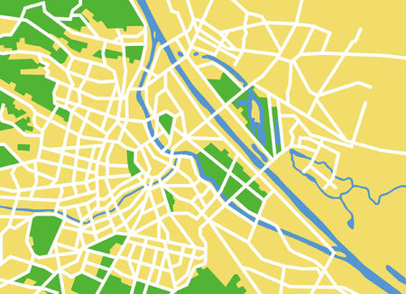 Precisely vector city map of vienna Austria. Vector