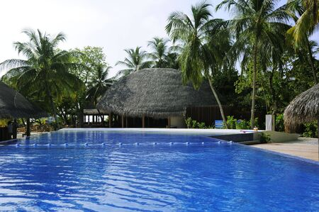 Picture of swimming pool at tropical resorts photo