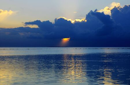 Picture of sunset scene at maldives. photo