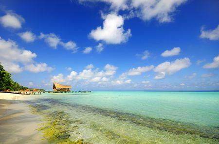 beach scene at Maldives. photo