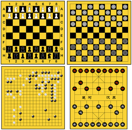 4 kinds of board games  Vector