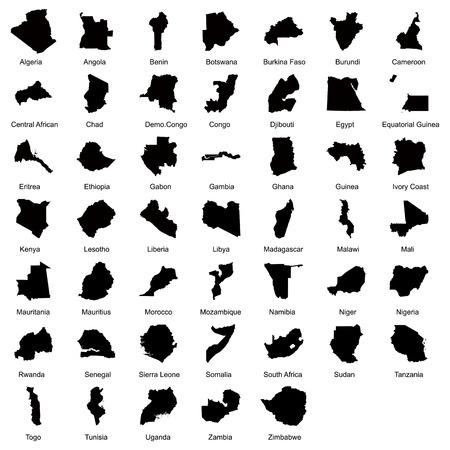 simbabwe: 47 Afrikanischen L�ndern. Illustration