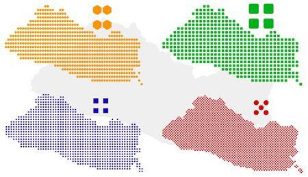 mapa de el salvador: en capas de mapa de p�xel del Salvador.  Vectores