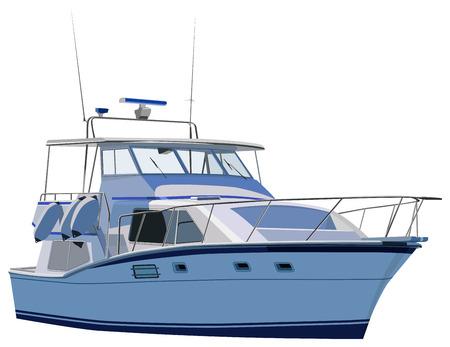 yacht Vektoros illusztráció