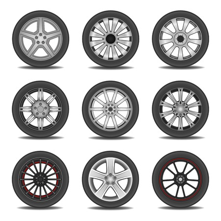 Illustration of tires  Vector