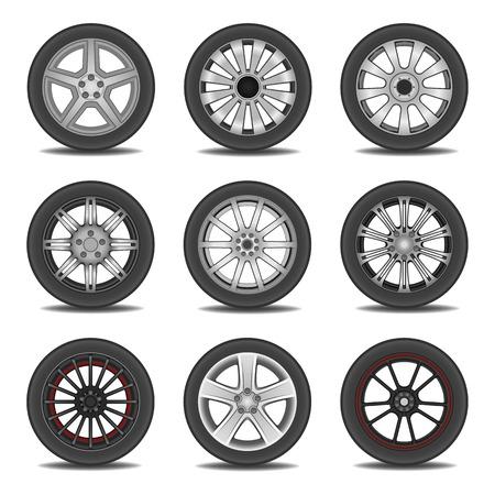 felgen: Illustration von Reifen