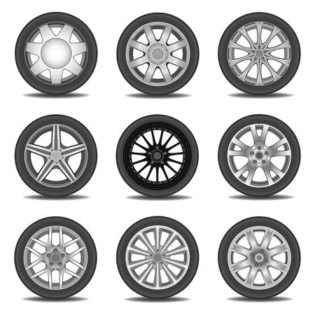 cerchione: Illustrazione dei pneumatici Vettoriali