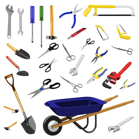 pushcart: Illustration of tools