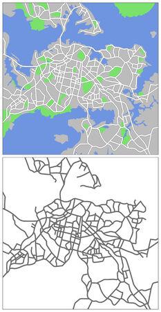 new zealand landscape: Illustration city map of Auckland