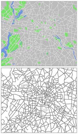 locality: Illustration city map of Berlin