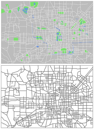 locality: Illustration city map of Beijing