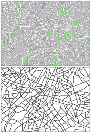 plat: Illustration city map of Brussels  Illustration