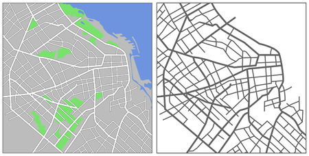 Illustration city map of Buenos Aires
