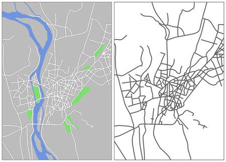 cairo: Illustration city map of Cairo