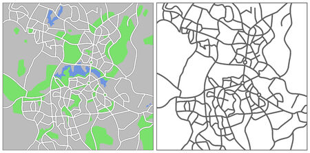 plat: Illustration city map of Canberra