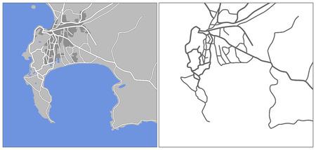 capetown: Illustration city map of Capetown