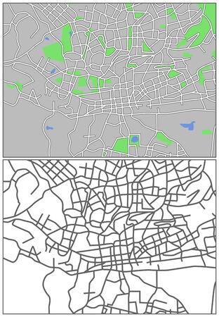 plat: Illustration city map of Johannesburg