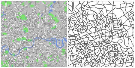 london cityscape: Illustration city map of London