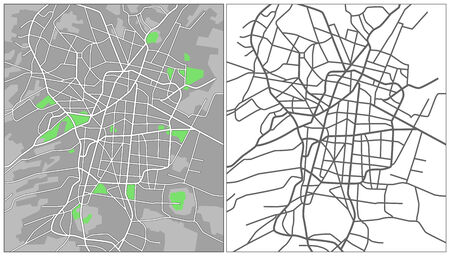 Illustration city map of Mexico city Illusztráció