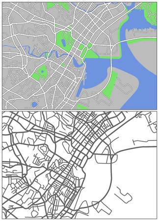 Illustration city map of Singapore