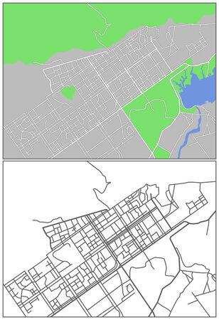 islamabad: Illustration city map of Islamabad