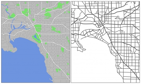 locality: Illustration city map of Melbourne