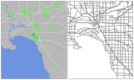 Illustration city map of Melbourne