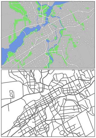 locality: Illustration city map of Ottawa