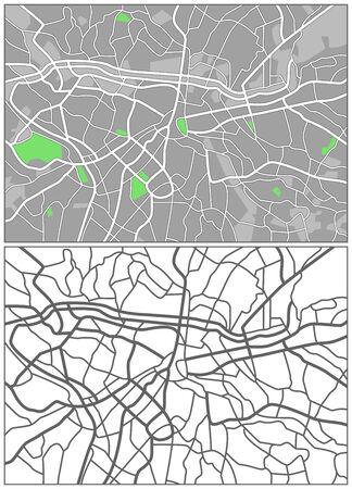 Illustration city map of Sao Paulo