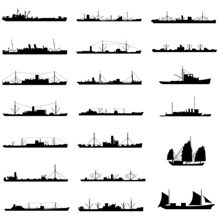 merchant: 20 different kinds of ship  Illustration
