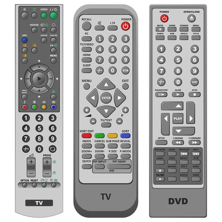 Illustration three different kinds of Remote controls  Stock Vector - 7232786
