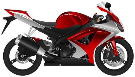 silueta moto: una motocicleta. Vectores
